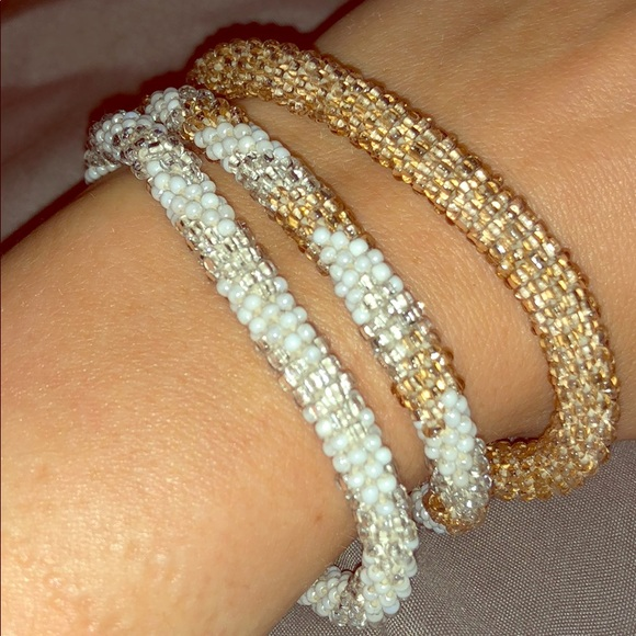 Nordstrom Jewelry Bracelets Os Gold Silver Pearl Poshmark